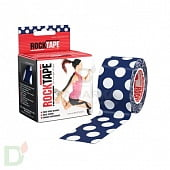 Пластырь (кинезиотейп) RockTape Design, 5см х 5м, ГОРОХ